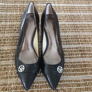 NWOT Coach black heels size 8
